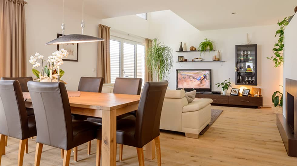 Moderne Esszimmer Bilder: Elegantes Doppelhaus mit 2 ...