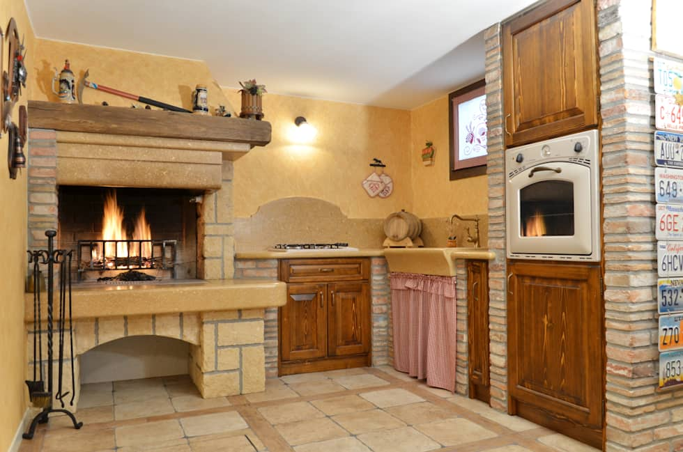 Idee arredamento casa interior design homify - Cucina muratura rustica ...