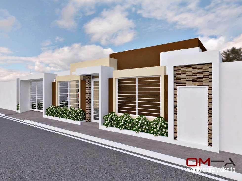 Casas de estilo minimalista por om-a arquitectura y diseño