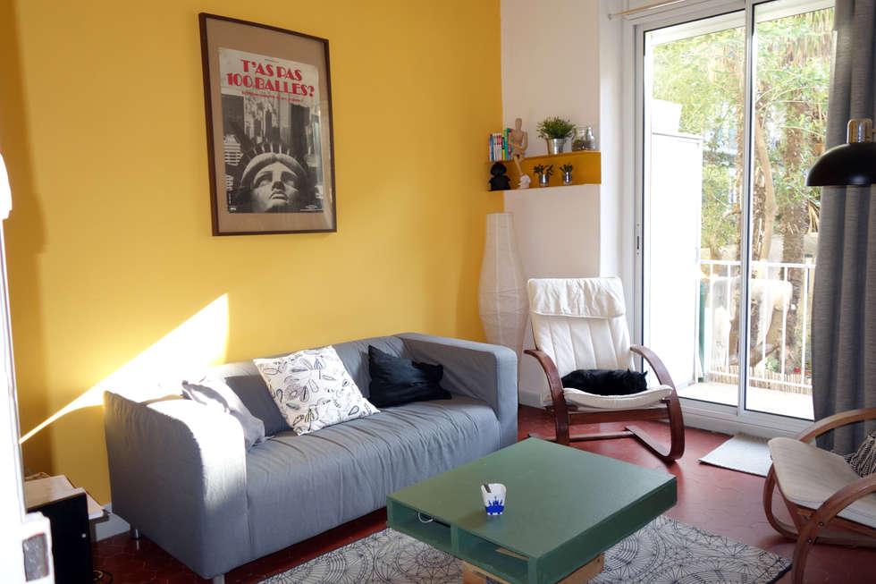 Un salon coloré: Salon de style de style eclectique par Sarah Archi In'