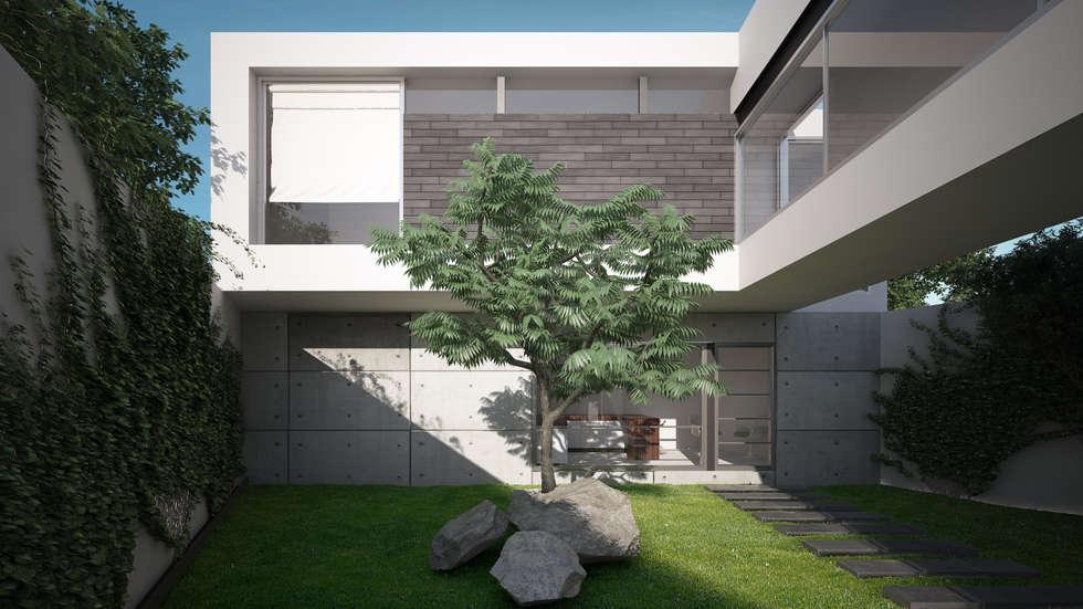 JARDIN  CENTRAL: Casas de estilo moderno por ORTHER Architects