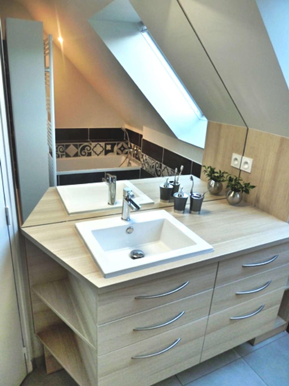 le meuble vasque: Salle de bains de style  par Lydie Gatignol