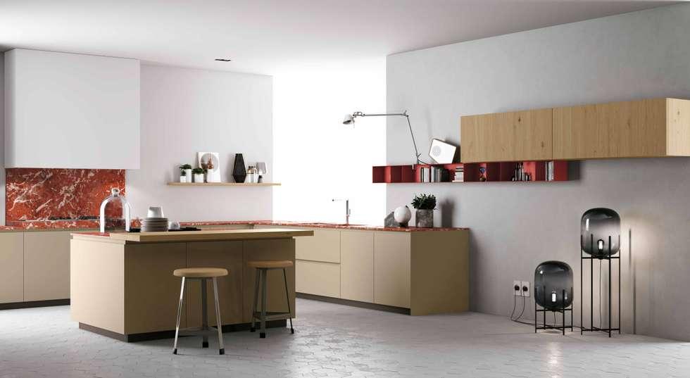 Cozinha Materia da Doimo Cucine: Cozinhas modernas por Grupo Emme Cozinhas