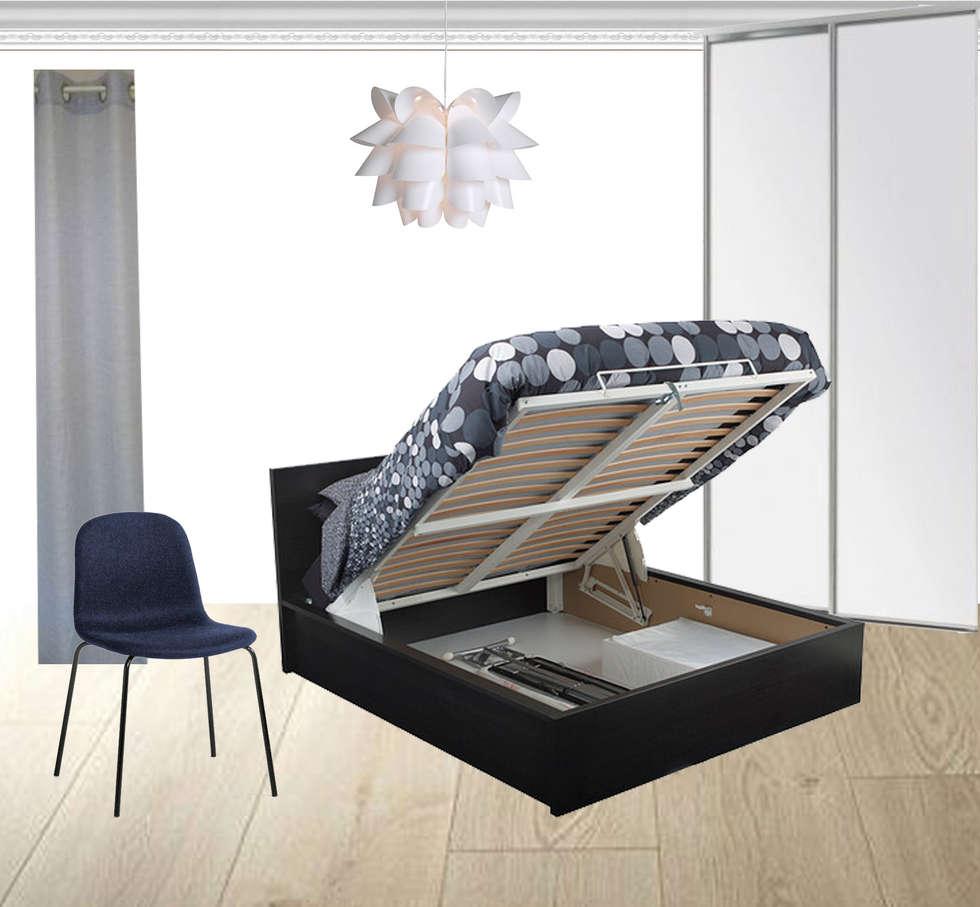 Un canapé convertible: Salon de style de style Classique par Mon Intérieur Sur Mesure (MISM)
