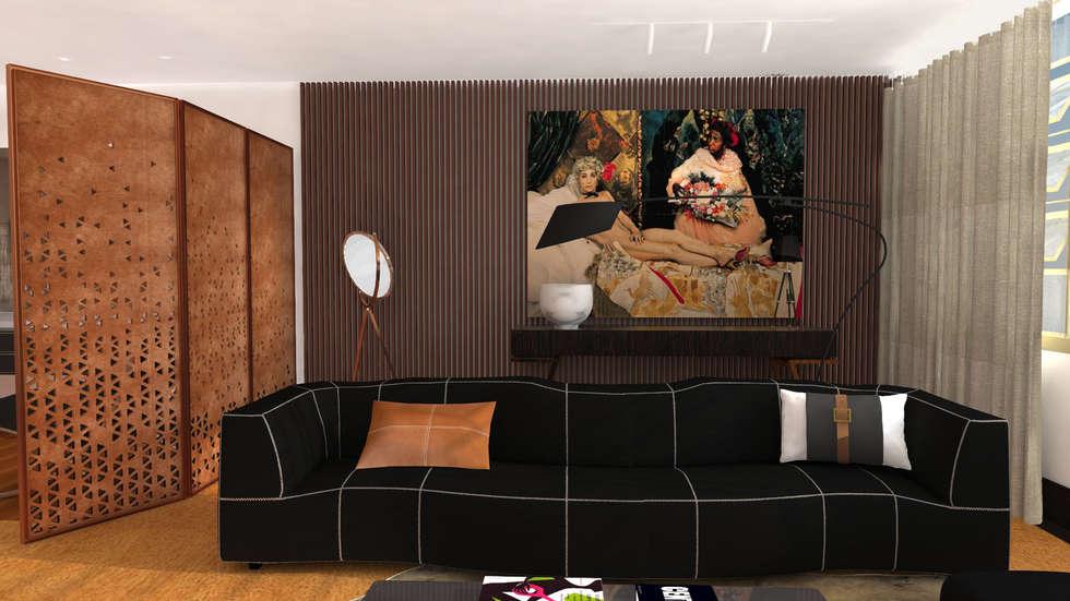 Projecto de Interiores   Remodelação Sala: Salas de jantar ecléticas por  IDesign.art by Paula Gouveia