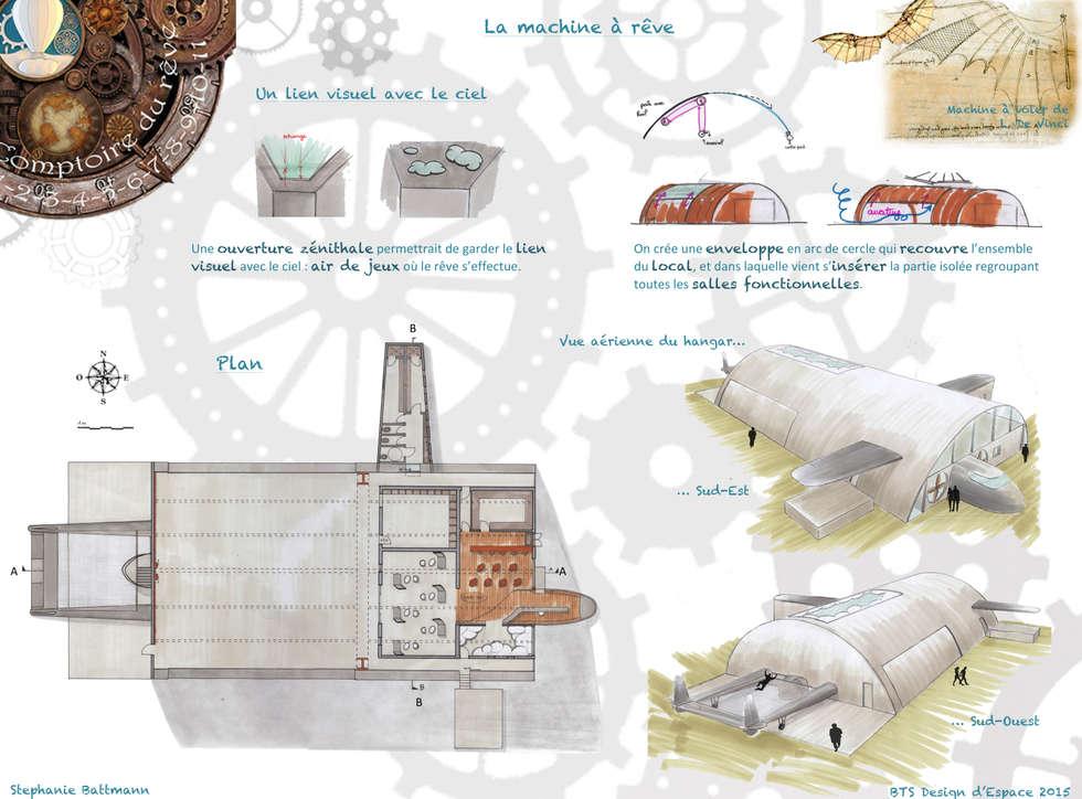 Comptoir du rêve. 7: Garage / Hangar de style de style eclectique par Sb Design Concept