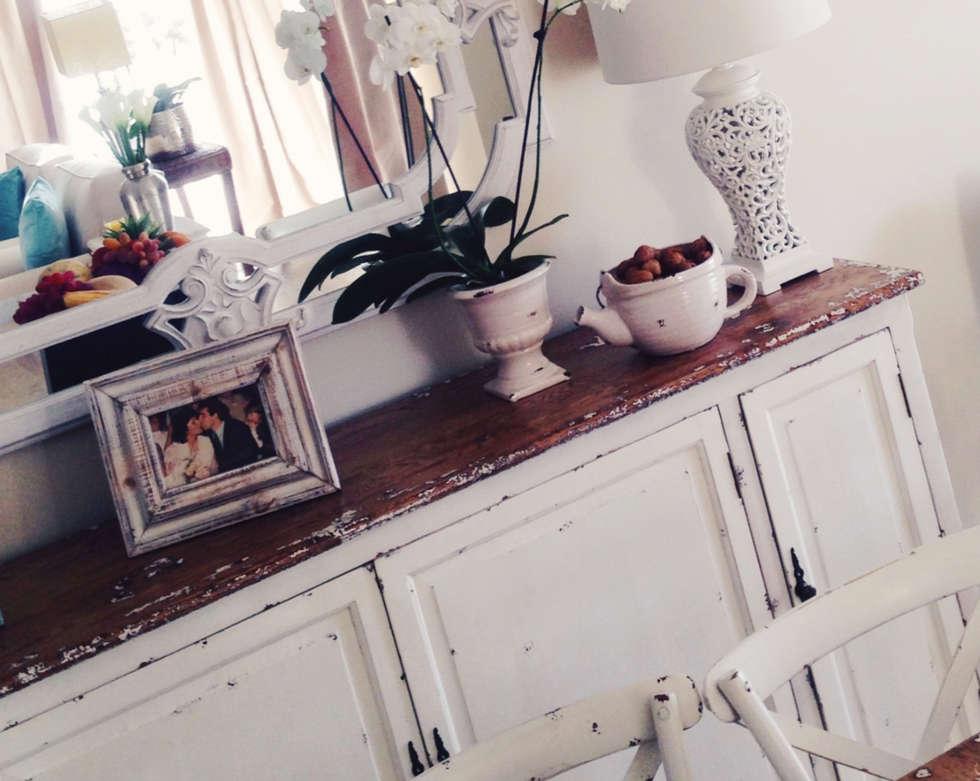 Zona de Refeição : Salas de jantar campestres por Rafaela Fraga Brás Design de Interiores & Homestyling