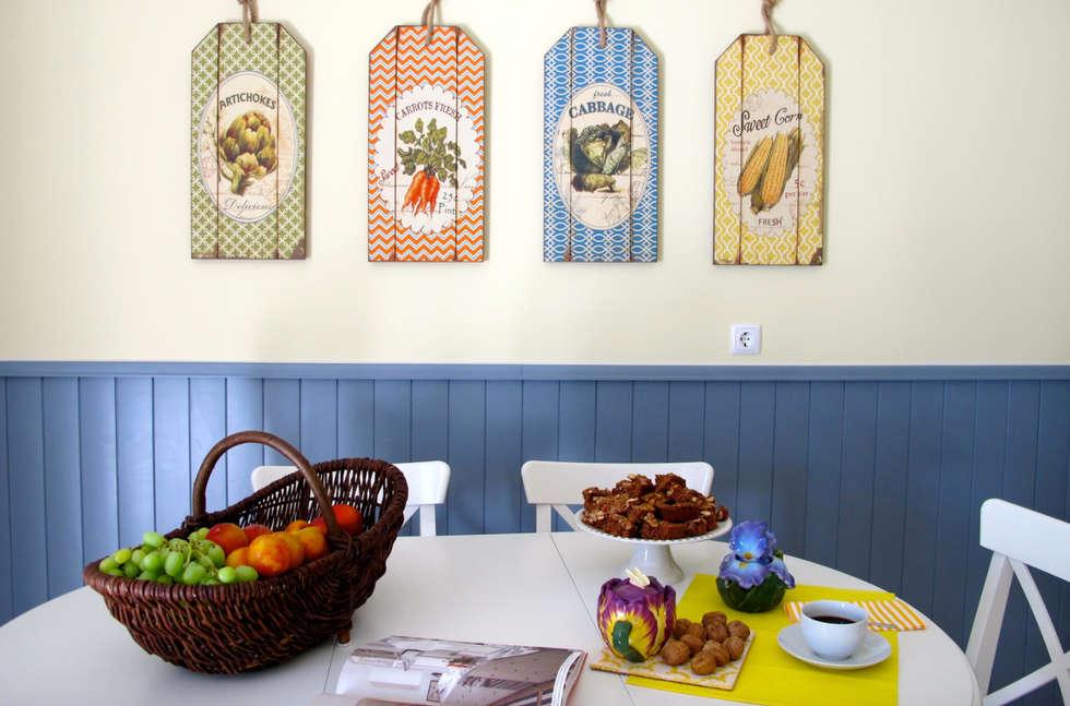 Cozinha - Zona de refeição : Cozinhas campestres por Rafaela Fraga Brás Design de Interiores & Homestyling