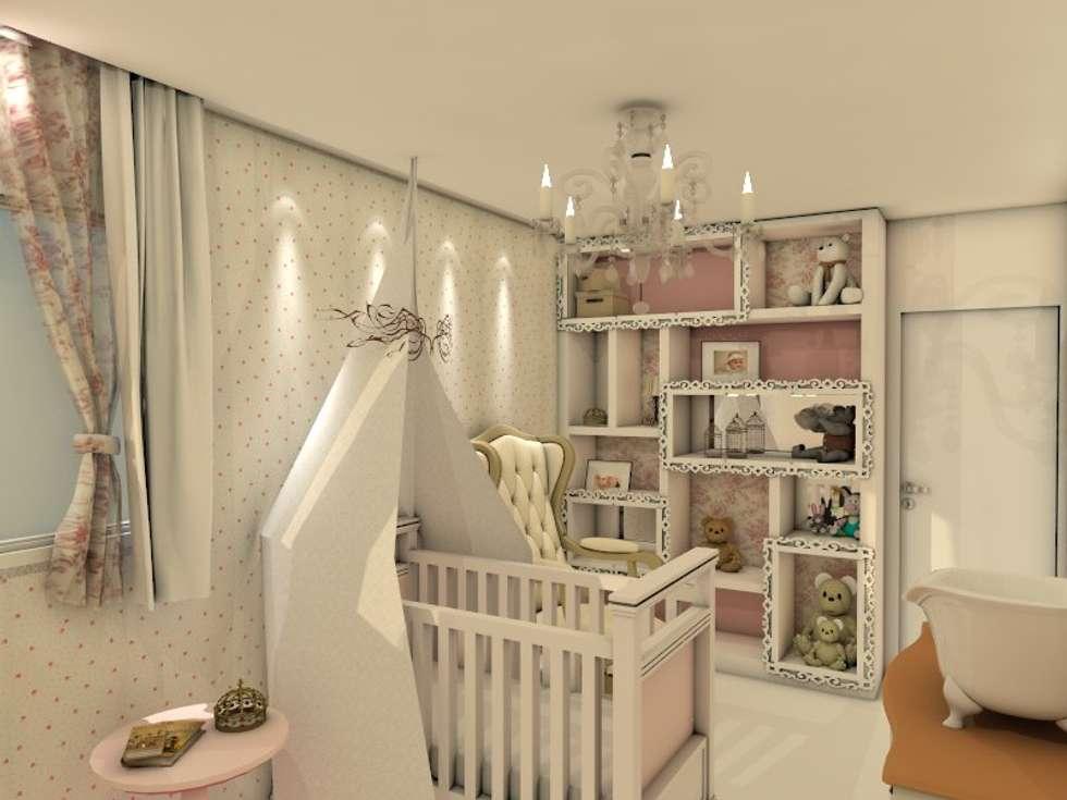 Suite do Bebê: Quarto de crianças  por Deise Luna Arquitetura