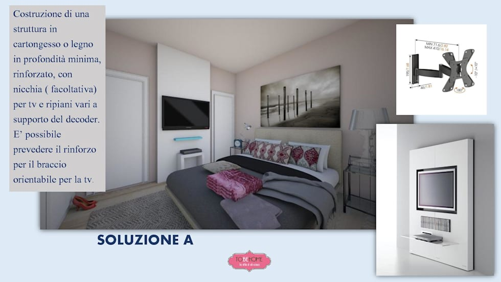 Idee arredamento casa interior design homify - Tv in camera da letto ...