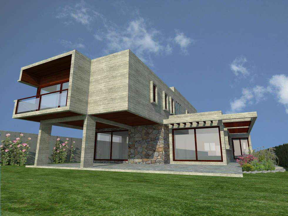 Casa Gama: Casas de estilo moderno por Vibra Arquitectura