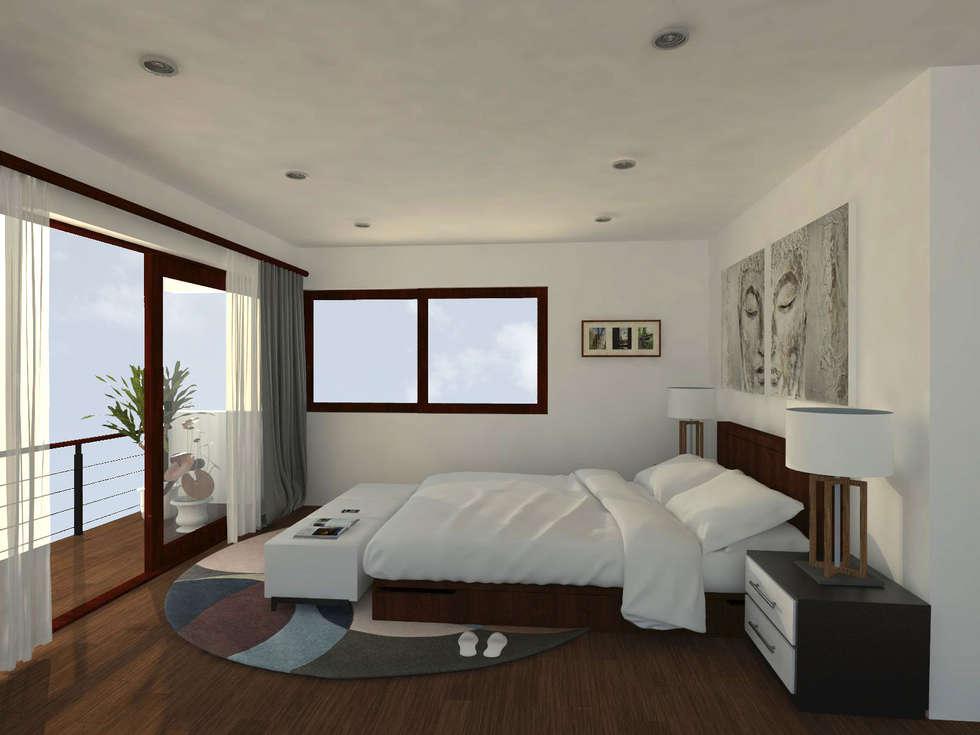 : Dormitorios de estilo moderno por Vibra Arquitectura