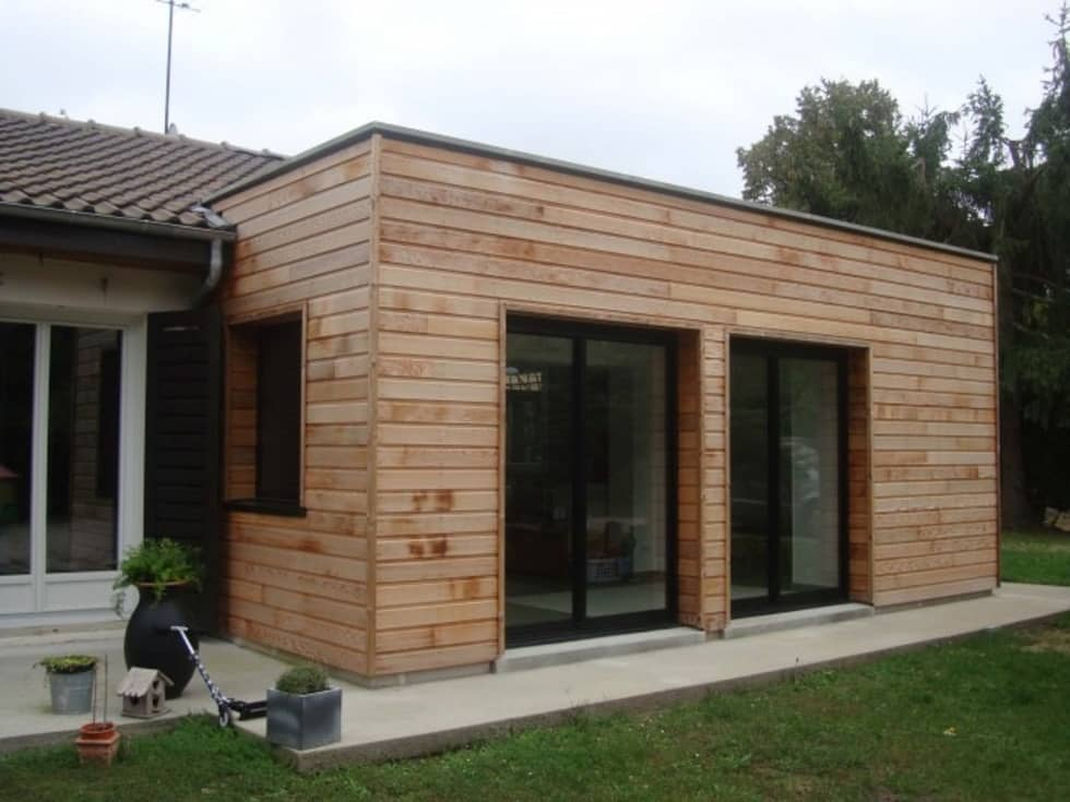 Agrandissement du séjour.: Maisons de style de style Moderne par Olivier Olindo Architecte