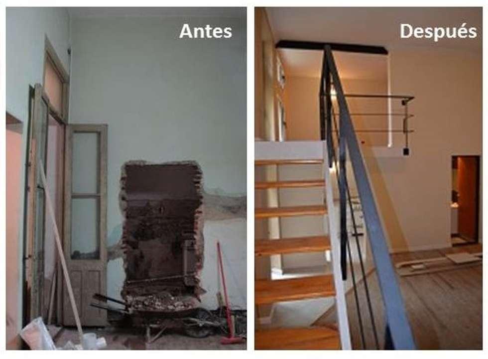 Antes y despues. : Dormitorios de estilo moderno por Area61 Arquitectura