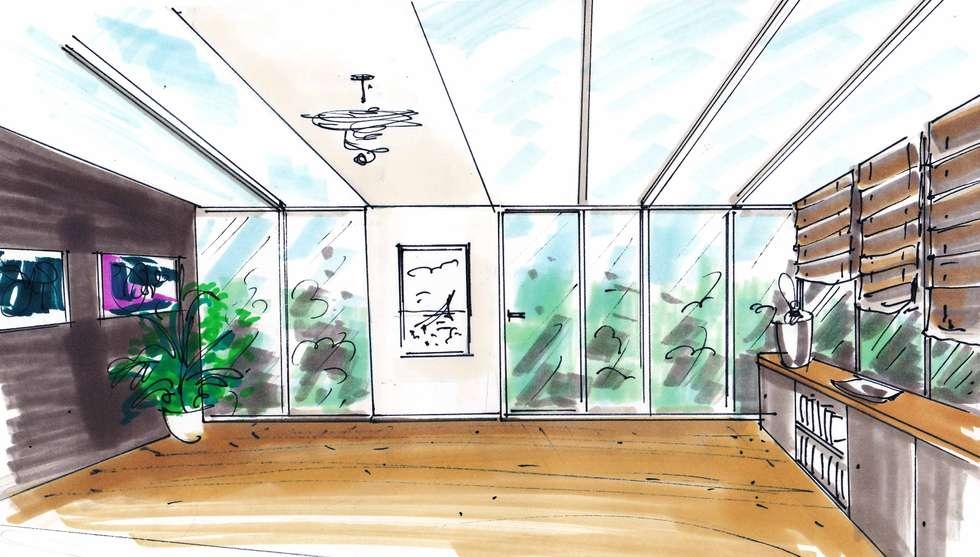 Une pièce ouverte sur le jardin: Terrasse de style  par Mon Intérieur Sur Mesure (MISM)