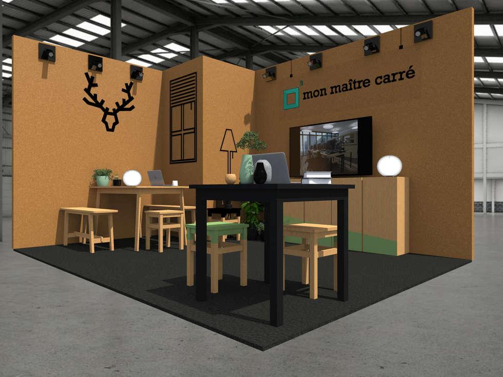 le stand mon maitre carr espaces commerciaux de style par sandia design homify. Black Bedroom Furniture Sets. Home Design Ideas