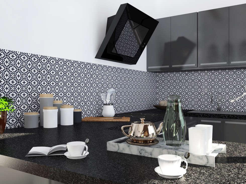 """Esprit atelier """"Loft industriel & vintage"""": Cuisine de style de style Industriel par Sandia Design"""