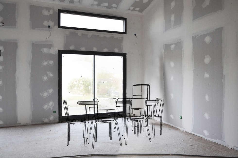 """Esprit atelier """"Loft industriel & vintage"""": Salle à manger de style de style Industriel par Sandia Design"""
