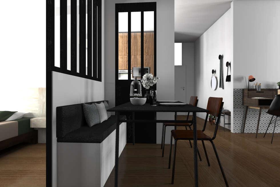 espace vivre faon usine des annes 70 salle manger de style