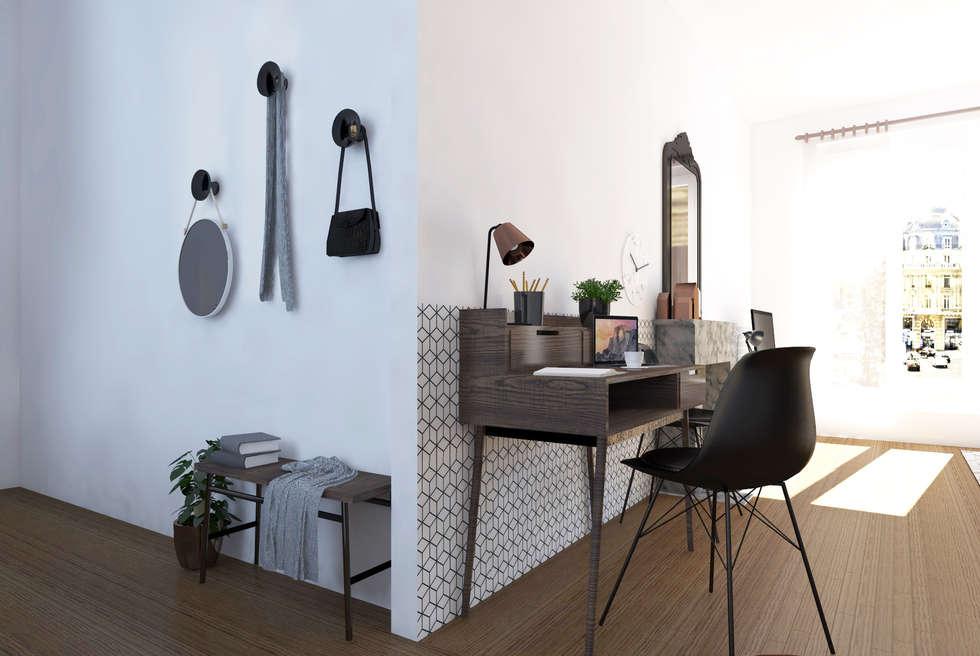 """Espace à vivre """"façon usine des années 70"""": Bureau de style de stile Rural par Sandia Design"""