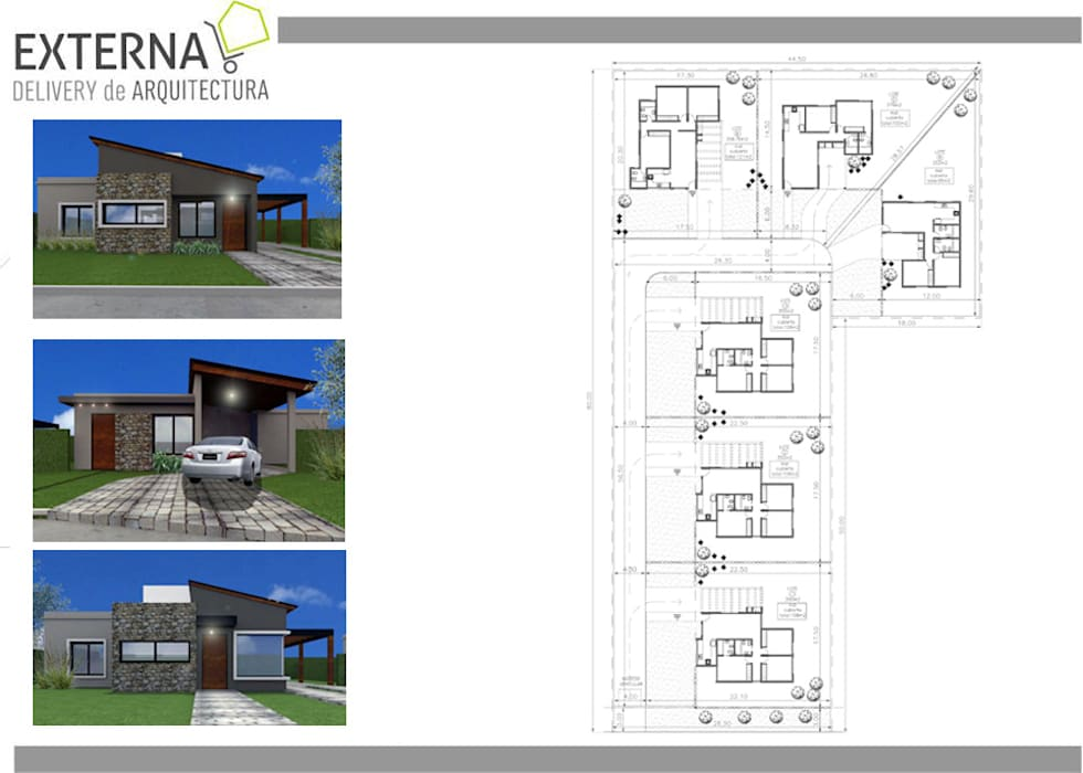 Housing El soñado: Casas de estilo moderno por Externa Arquitectura