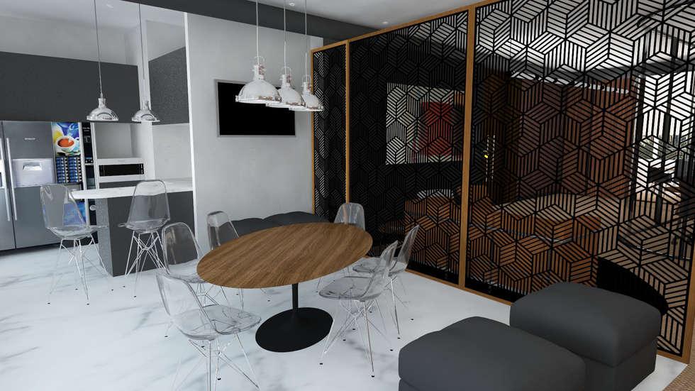 Atmosferas | Projecto de Interiores Paula Gouveia: Escritórios  por  IDesign.art by Paula Gouveia