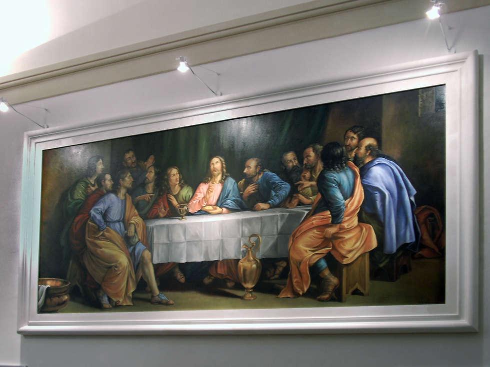 Ultima Cena.: Pareti in stile  di erica de rosa, dipinti, affreschi, trompe l'oeil,  decorazioni - Venezia