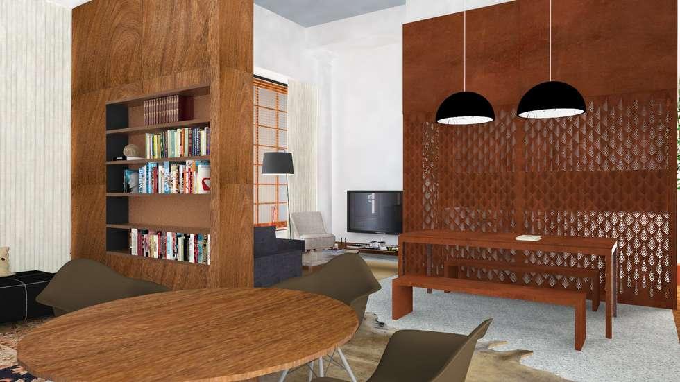 Atmosferas | Projecto de Interiores Paula Gouveia: Salas de estar industriais por  IDesign.art by Paula Gouveia