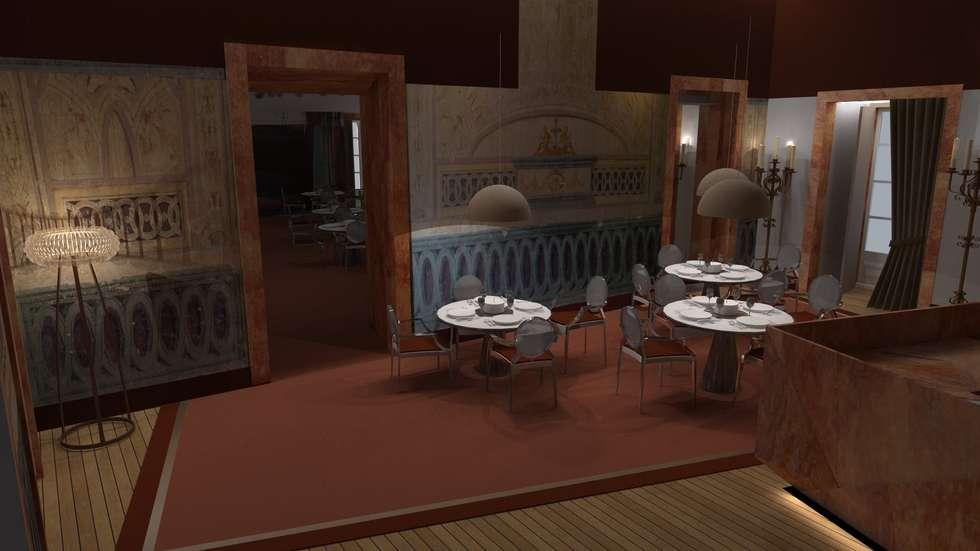 Atmosferas | Projecto de Interiores Paula Gouveia: Espaços de restauração  por  IDesign.art by Paula Gouveia