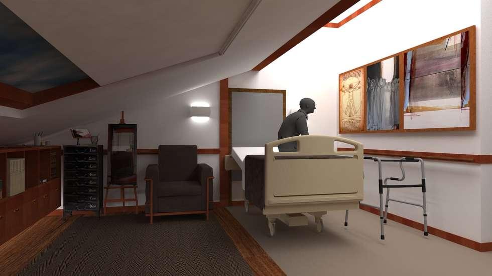 Atmosferas | Projecto de Interiores Paula Gouveia: Quartos modernos por  IDesign.art by Paula Gouveia