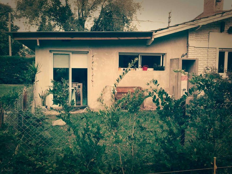 contrafachada : Casas de estilo clásico por Estudio ZP