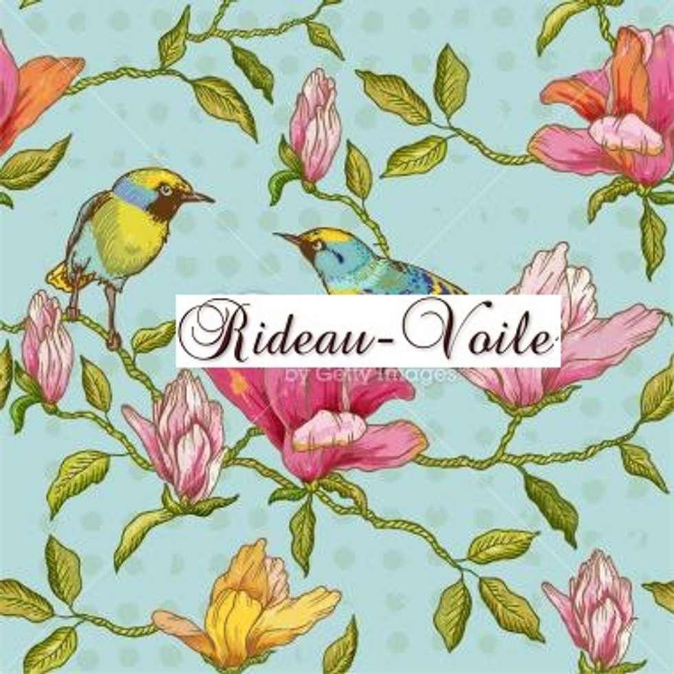 imprim s d 39 oiseaux sur branches avec fleurs et feuilles en. Black Bedroom Furniture Sets. Home Design Ideas