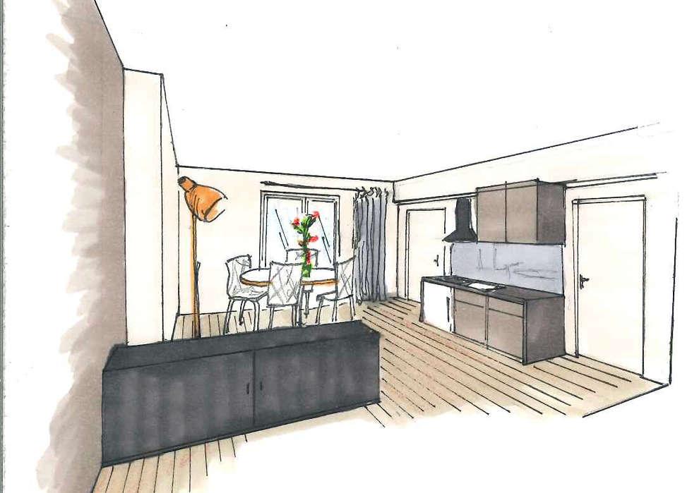 L'espace cuisine / salle à manger: Salle à manger de style de style Classique par Mon Intérieur Sur Mesure (MISM)