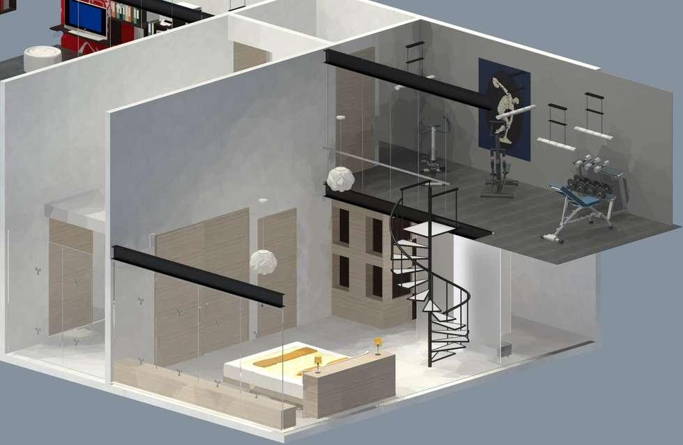 Recámara Principal: Recámaras de estilo ecléctico por Molcajete Arquitectura Interiores Diseño