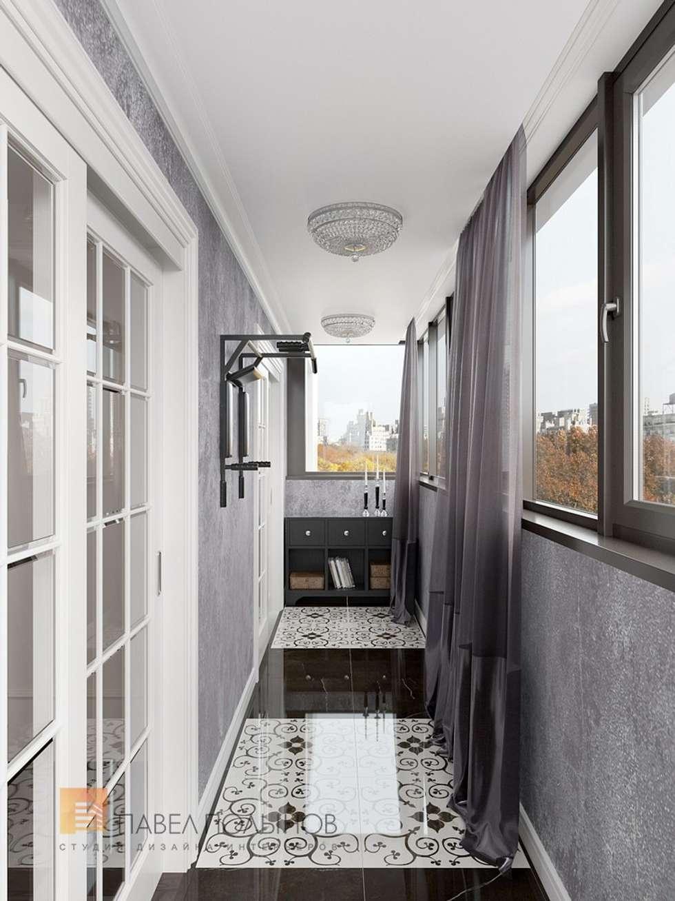 """Интерьер лоджии в проекте """"квартира в стиле современной клас."""