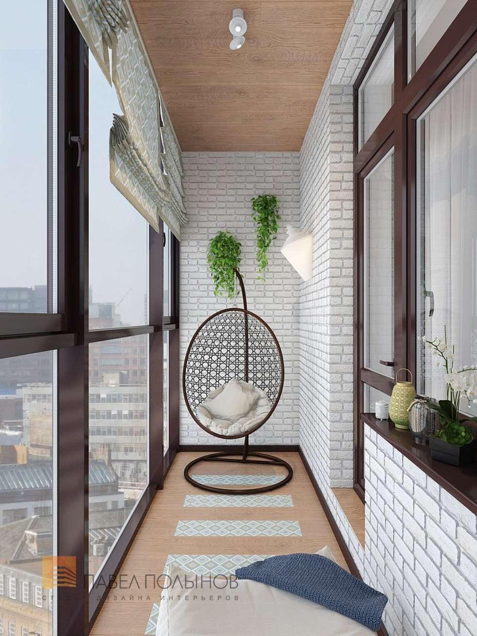 "Дизайн лоджии в проекте ""двухуровневая квартира в неоклассич."