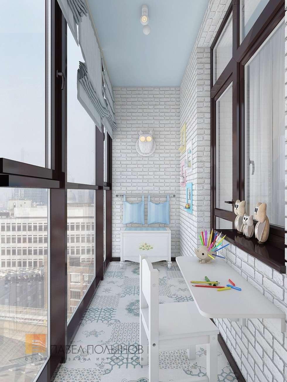 """Интерьер лоджии в проекте """"двухуровневая квартира в неокласс."""