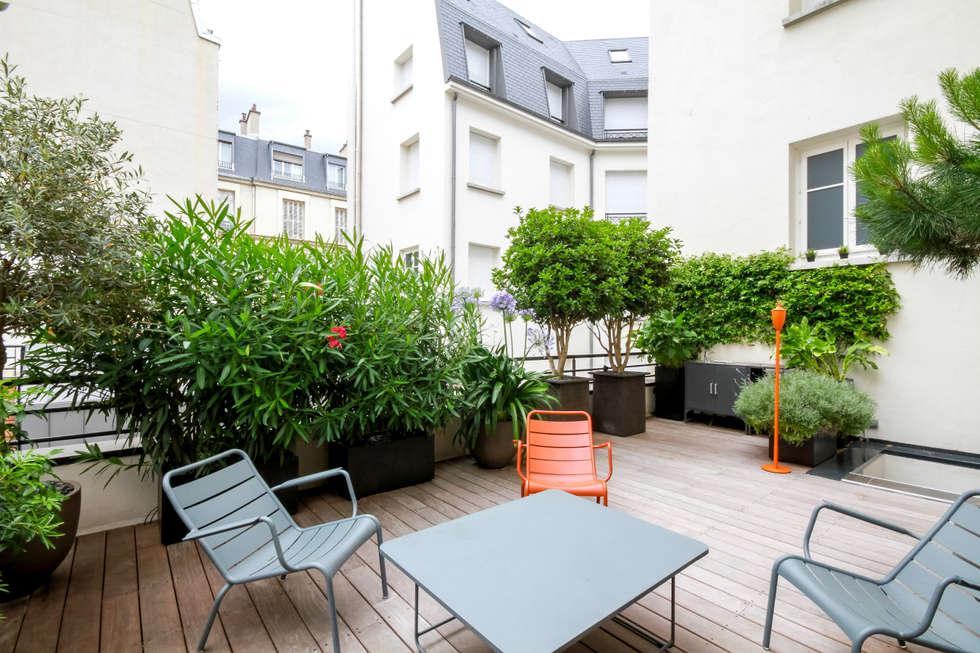 Toi terrasse - Paris 8: Terrasse de style  par Terrasses des Oliviers - Paysagiste Paris