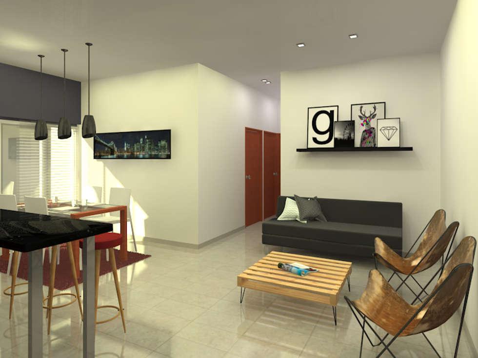 Living: Livings de estilo moderno por Arquitecto Ariel Ramírez