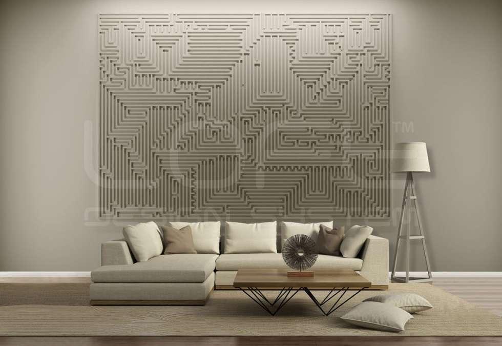 3d Wandpaneele   Großformat Modell ARCHETYPE: Moderne Wohnzimmer Von Homify