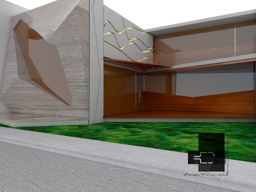 RESIDENCIA MITCHELLE: Casas de estilo ecléctico por Sergio Villafuerte -ARQUITECTOS-