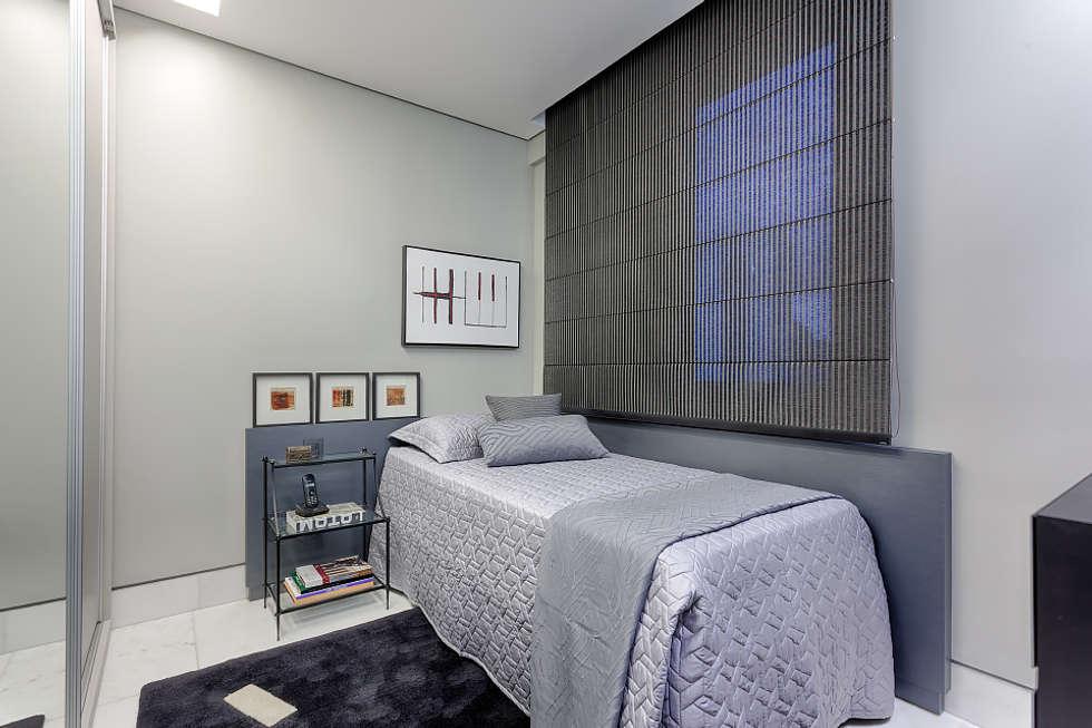 Quarto solteiro masculino quartos por emmanuelle eduardo arquitetura e interiores homify -> Decoração De Interiores Quarto Solteiro