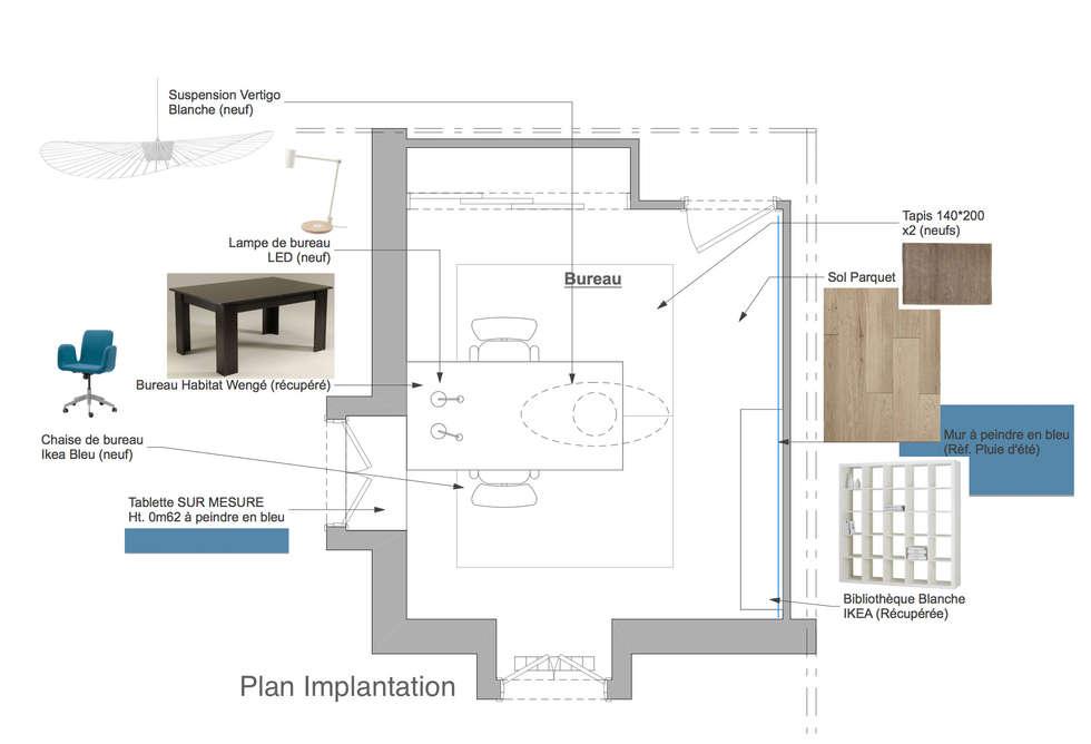Aménagement intérieur: Bureau de style de style Moderne par Mon Intérieur Sur Mesure (MISM)