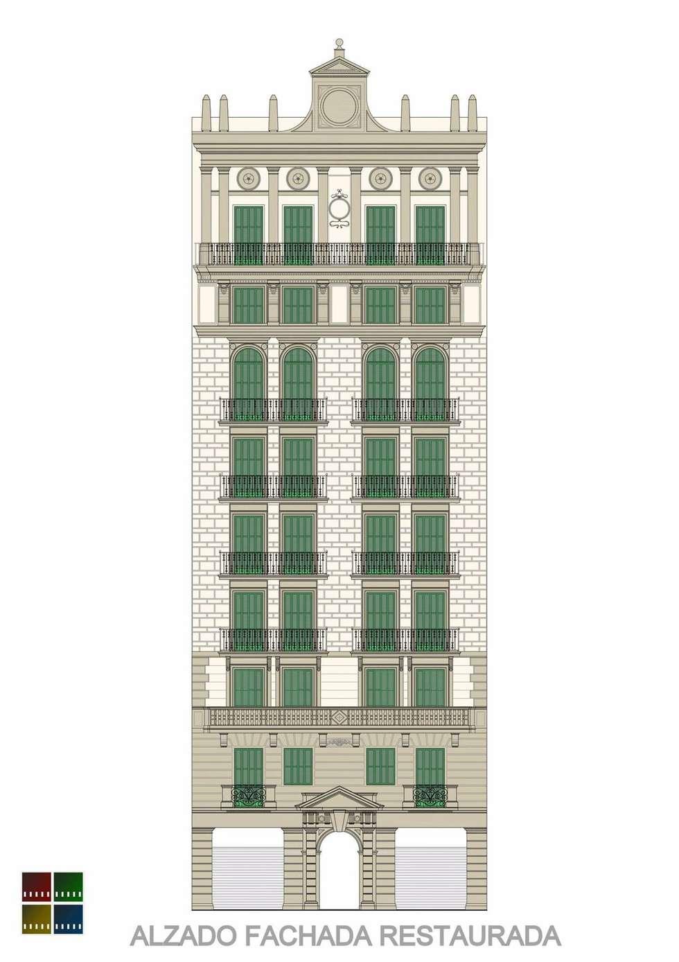 RESTAURACIÓN REALIZADA DE UN EDIFICIO PROTEGIDO DE L'EIXAMPLE.: Casas de estilo clásico de Estudio Arquitectura Ricardo Pérez Asin