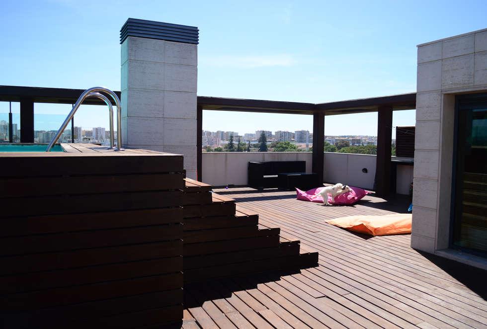 PROJETO DE DECORAÇÃO: Terraços  por all Design  [Arquitectura e Design de Interiores]