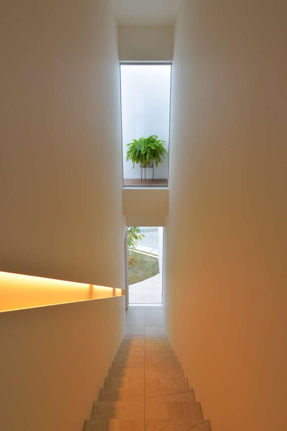 ODMR-HOUSE: 門一級建築士事務所が手掛けた玄関・廊下・階段です。