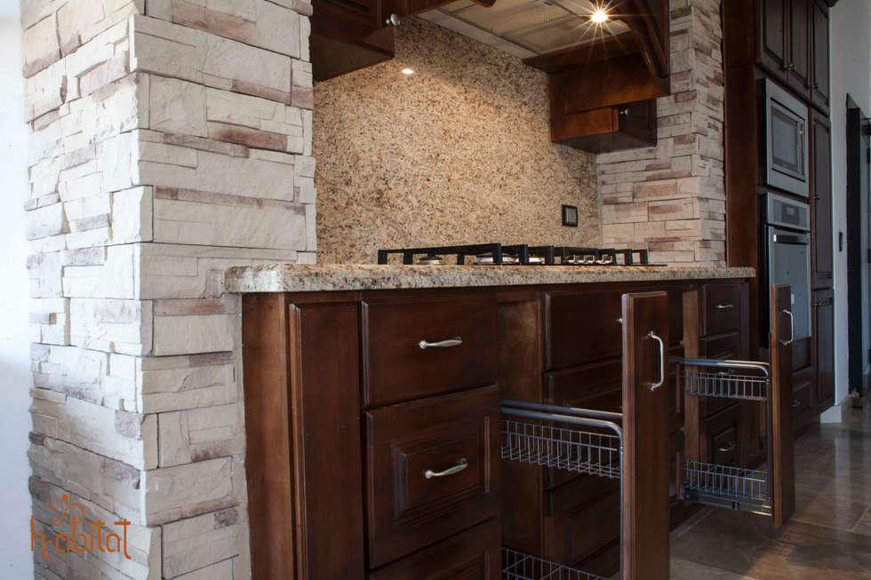 Especieros extraíbles : Cocinas de estilo clásico por H-abitat Diseño & Interiores
