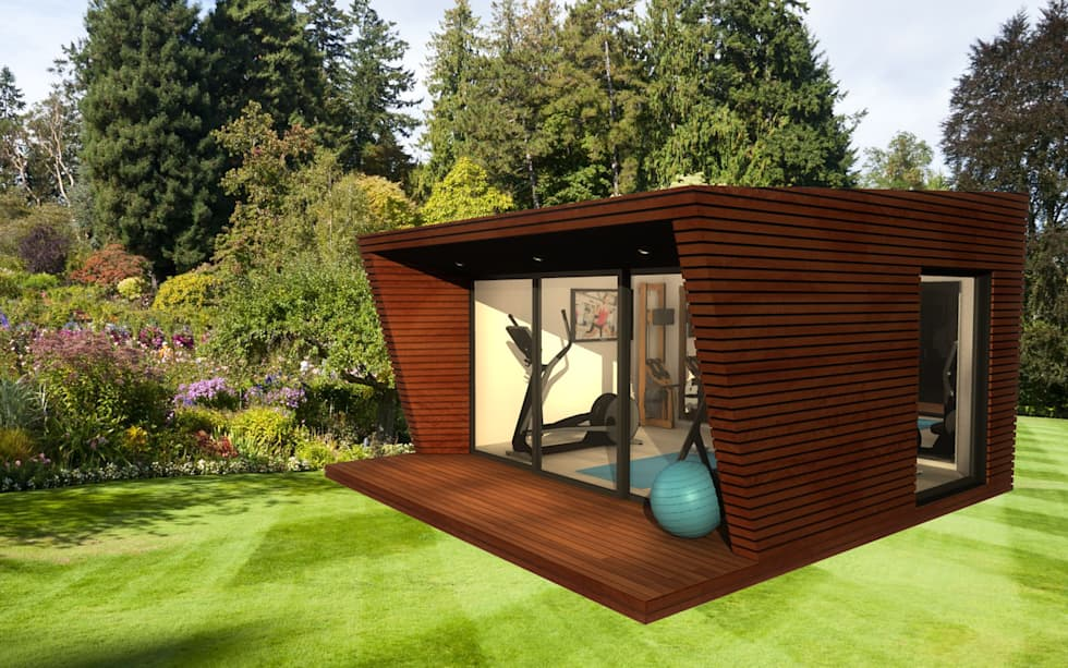 Le fitness Cube : Salle de sport de style de style Moderne par Athletica Design