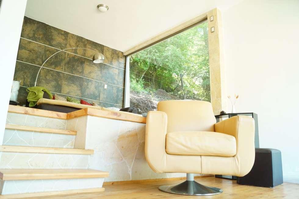 Loft Manatí, Vista Interior.: Salas de estilo minimalista por T+E ARQUITECTOS
