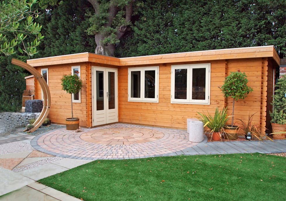 Log Cabin: modern Garden by Garden Affairs Ltd